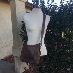 Brown Coach crossbody bag leather